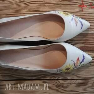 kwiaty buty baleriny jesienne