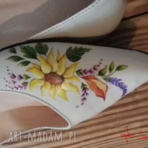 nietuzinkowe buty kwiaty baleriny jesienne