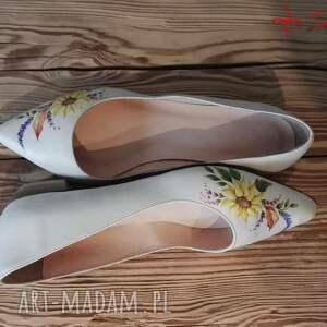 buty kwiaty baleriny jesienne