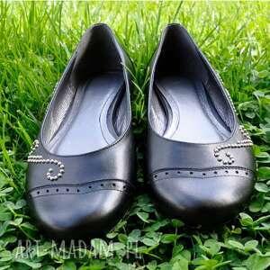 czarne buty baleriny góralskie baletki