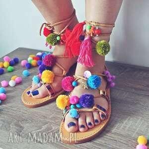 rzymianki buty na zamówienie - kolorowe