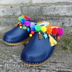 buty niepowtarzalne, tęczowe boho