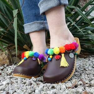hand made buty chodaki 36 - niepowtarzalne tęczowe boho
