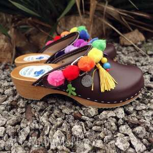 drewniaki buty 37 niepowtarzalne tęczowe boho