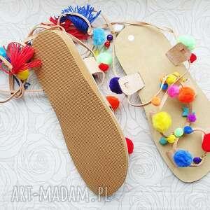 rzymianki buty rozm. 37 - kolorowe sandały w stylu