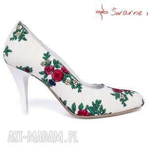 nietuzinkowe buty ślubne szpilki z tybytu