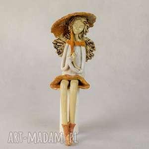 unikatowe ceramika anioł-ceramiczny anioł ceramiczny siedzący