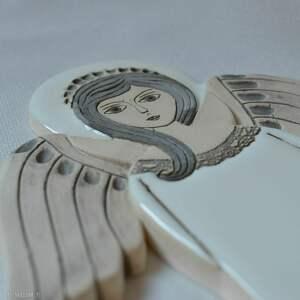 szare ceramika komunię anioł ceramiczny - hvar