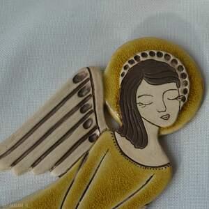 anioł ceramika brązowe ceramiczny - zlatna livada