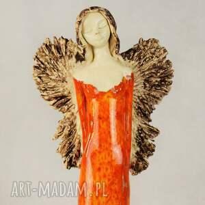 pomarańczowe ceramika anioł-ceramiczny anioł ceramiczny