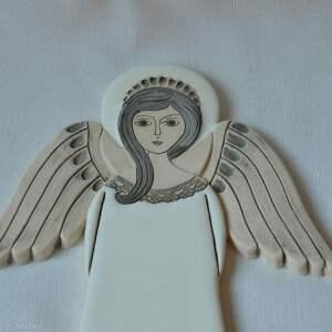 anioł ceramika białe ceramiczny - hvar