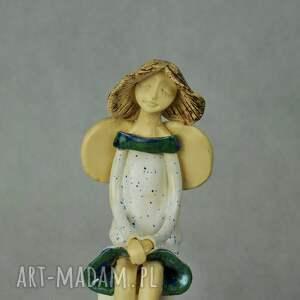 frapujące ceramika anioł-siedzący anioł siedzacy