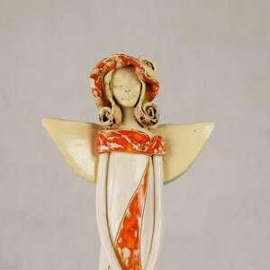 ceramika anioł-w-kapeluszu anioł w kapeluszu