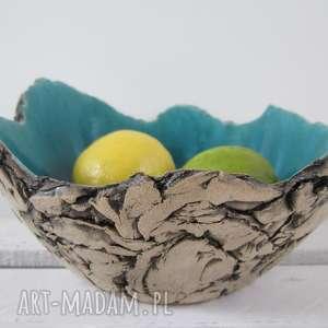 czarne ceramika dekoracyjna artystyczna miska sardynia rozmiar