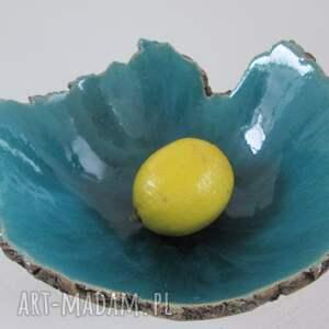 beżowe ceramika dekoracyjna artystyczna miska sardynia m