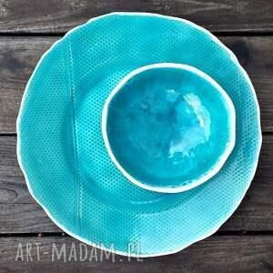 niekonwencjonalne ceramika talerz bubbles zestaw naczyń ceramicznych
