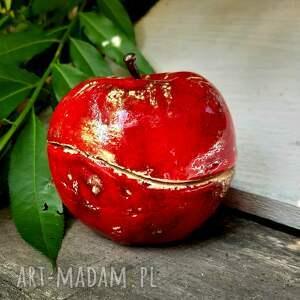 Ceramiczna cukierni8ca, jabłko naturalnej wielkości - owoc
