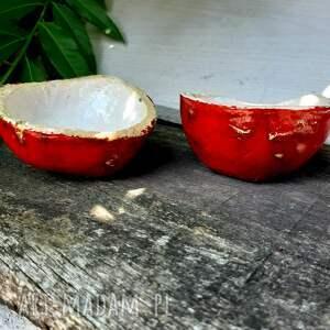 Ceramiczna cukierni8ca, jabłko naturalnej wielkości - owoc prezent
