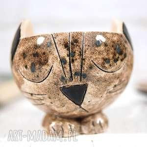 efektowne ceramika ceramiczny kot ceramiczna doniczka kot ręcznie