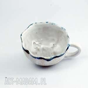 niebieskie ceramika pies ceramiczna duża filiżanka kubek