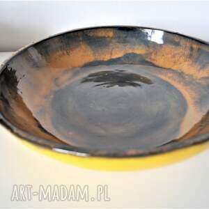 brązowe ceramika misa ceramiczna - piasek pustyni