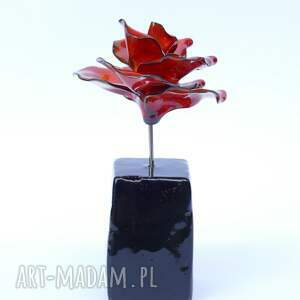 dla niej ceramika ceramiczna róża czerwona