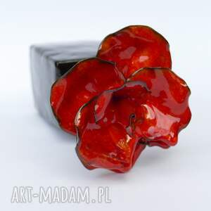 ceramika czerwone ceramiczna róża czerwona