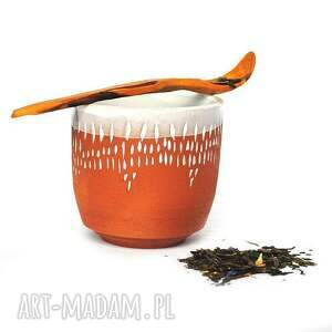 ręczne wykonanie ceramika czarki ceramiczne 2 szt - strugane