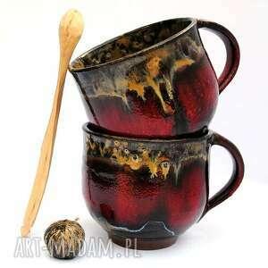 gustowne ceramika ceramiczne kubki- para dla pary