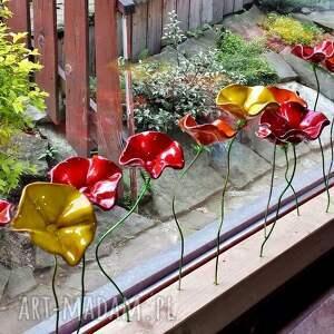ceramika drucik ceramiczne kwiaty na druciku
