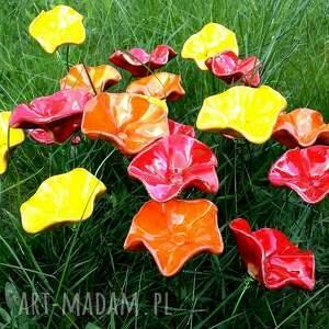 ceramika kwiat ceramiczne kwiaty na druciku