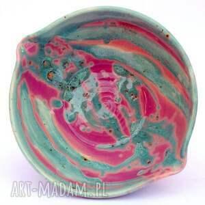 turkusowe ceramika miseczna ceramiczne miski 2szt - eliptyczne