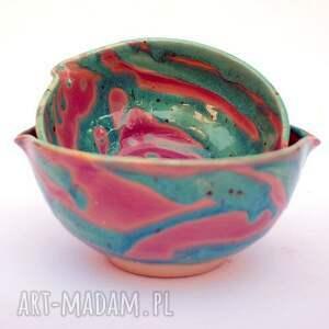 zestaw ceramika ceramiczne miski 2szt - eliptyczne