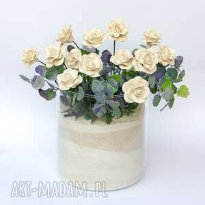 ceramika prezent ceramiczne róże ręcznie lepione