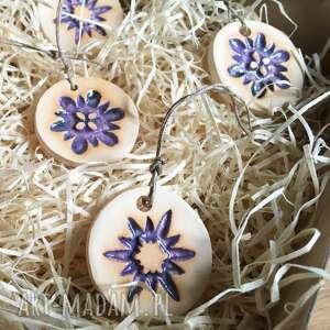 na święta prezent ceramiczne śnieżynki
