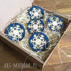 prezent święta ceramiczne śnieżynki