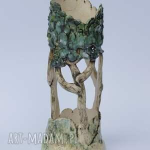 ceramika: Ceramiczny Lampion Ozdobny, Szkliwiony - dla niej