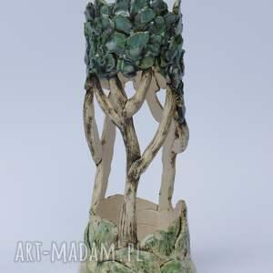 ceramika zielone ceramiczny lampion ozdobny
