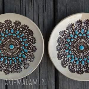 modne ceramika talerz ceramiczny talerzyk z faktura