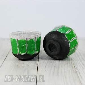 efektowne ceramika harbata czarki biało-zielone raku