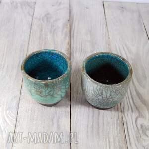 ceramika do-herbaty czarki turkusowe raku