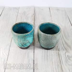 unikalne ceramika herbata czarki turkusowe raku