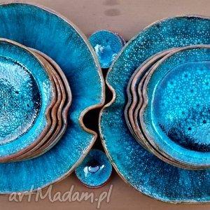 modne ceramika talerz ocean zestaw naczyń ceramicznych