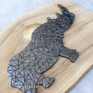 Pracownia AKo wyraziste ceramika dekor ceramiczny nosorożec
