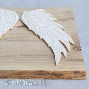 Pracownia AKo eleganckie ceramika anioł dekor ceramiczny - skrzydła