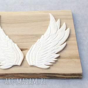 anioł ceramika dekor ceramiczny - skrzydła