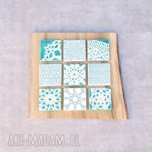 turkusowe ceramika dekor na ścianę ceramiczny koronkowe kafle