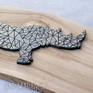 dekor ceramika niebieskie ceramiczny nosorożec