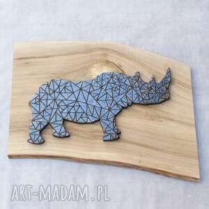 szare ceramika nosorożec dekor ceramiczny