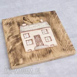 dekor ceramika beżowe ceramiczny dom